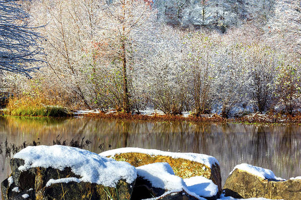 Photograph - Snow Across The Lake by Randy Bayne
