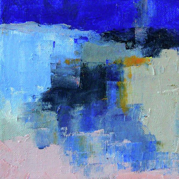 Ultramarine Blue Painting - Snow And Ice by Nancy Merkle