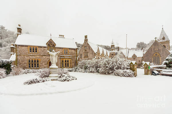 Wall Art - Photograph - Snow At Pantasaph Friary by Adrian Evans