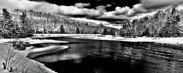 Wall Art - Photograph - Snow At The River - Bw by David Patterson