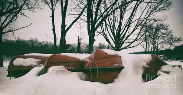 Photograph - Snow Boats by Mark Miller