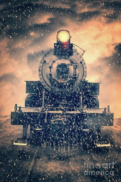 Wall Art - Photograph - Snow Bound Steam Train by Edward Fielding