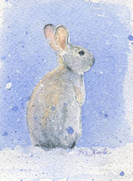 Painting - Snow Bunny 2 by Marsha Karle