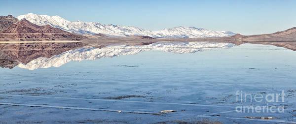 Photograph - Snow Cap Salt Flats Large Canvas Art, Canvas Print, Large Art, Large Wall Decor, Home Decor by David Millenheft