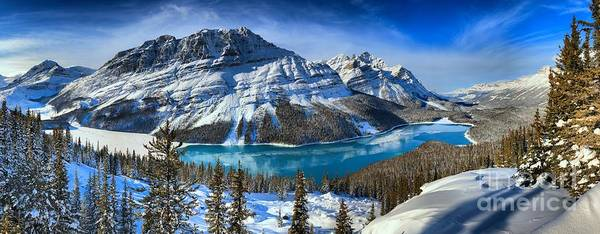 Photograph - Snow Capped Mountains And Icy Blue Waters by Adam Jewell