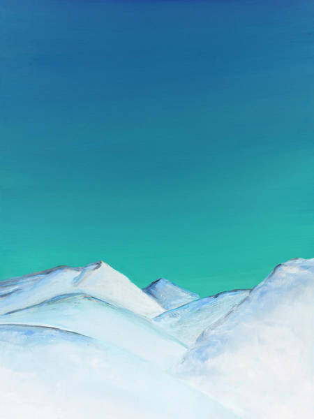 Painting - Snow Capped Mountains by Elizabeth Lock