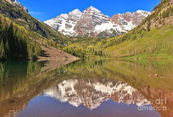 Photograph - Snow Capped Reflections by Adam Jewell