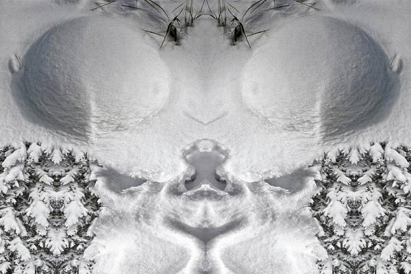 Digital Art - Snow Cheeks by Becky Titus