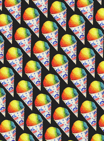 Retro Painting - Snow Cone Pattern by Kelly Gilleran