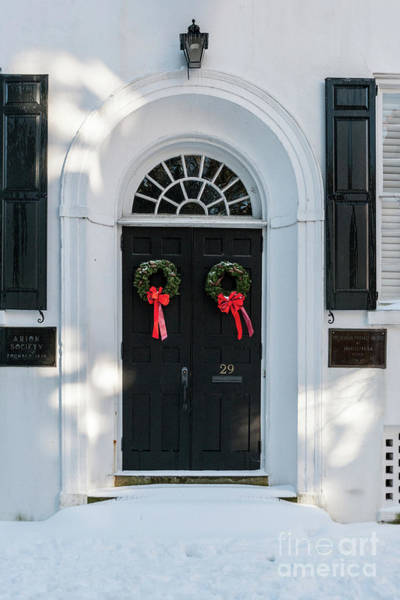 Photograph - Snow Covered Charleston Door by Dale Powell