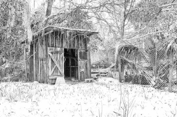 Photograph - Snow Covered Chicken House by Scott Hansen