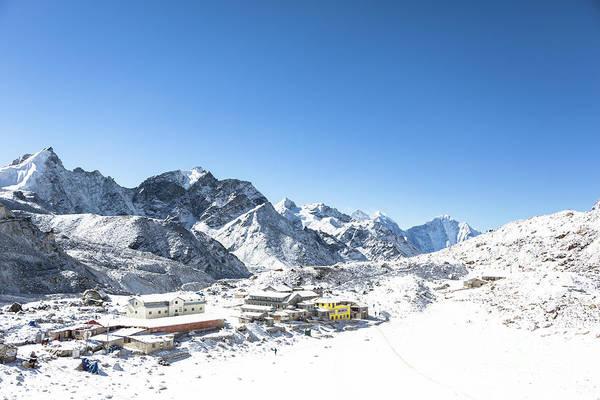 Photograph - Snow Covered Gorak Shep by Didier Marti