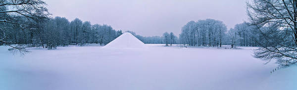Photograph - Snow Covered Lake Pyramid by Sun Travels