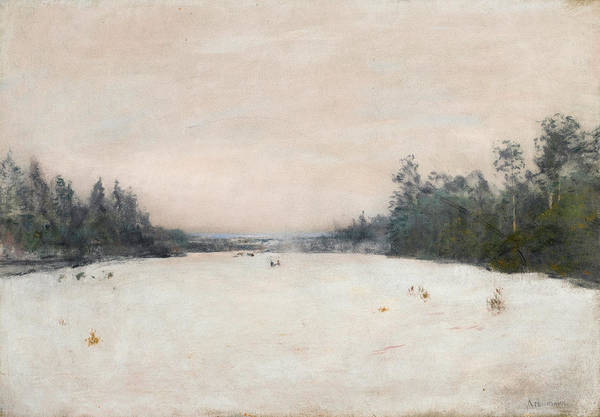 Russian River Painting - Snow-covered Meadow by Isaac Ilyich Levitan