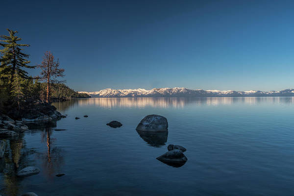 Photograph - Snow Covered Mountains At Lake Tahoe by Dan Friend