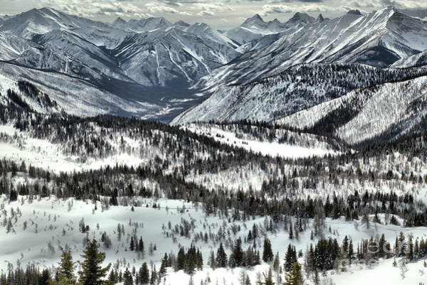 Photograph - Snow Covered Peaks And Valleys by Adam Jewell