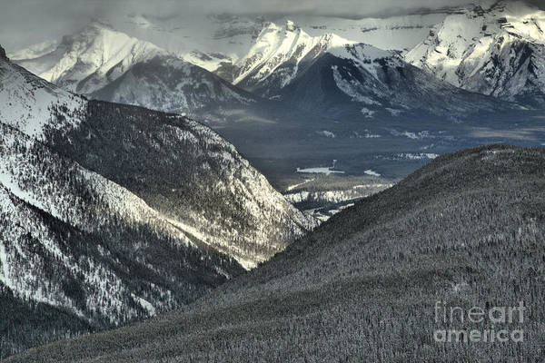 Photograph - Snow Covered Peaks Of The Canadian Rockies by Adam Jewell