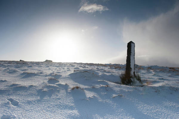 Photograph - Snow Covered Post by Helen Northcott