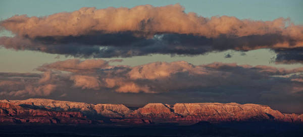 Photograph - Snow Covered Red Rock Panorama by Ron Chilston