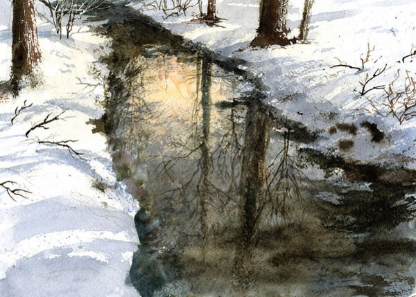 Painting - Snow Creek by Andrew King