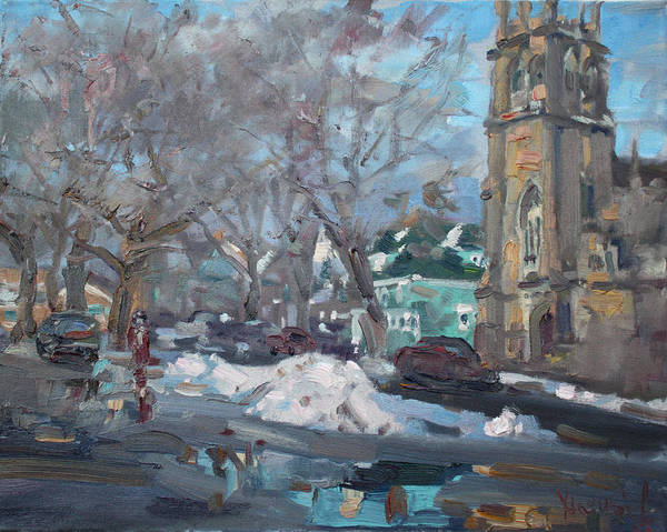 Niagara Painting - Snow Day At 7th St By Potters House Church by Ylli Haruni