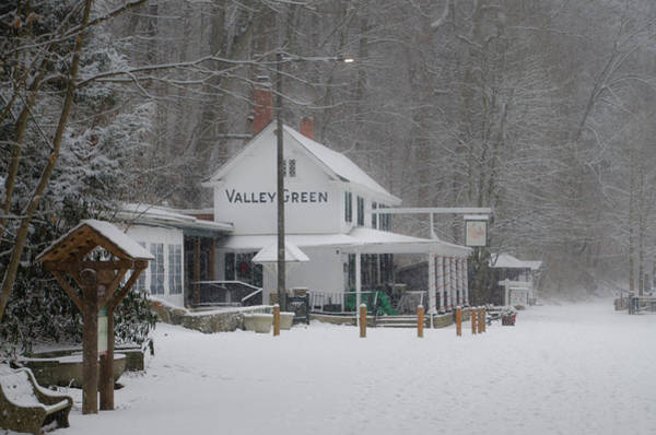 Photograph - Snow Day At Valley Green by Bill Cannon