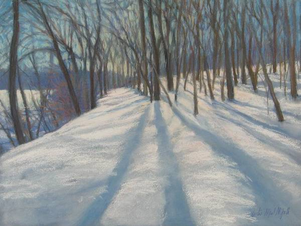 Wall Art - Painting - Snow Day At Winnekini by Leslie Alfred McGrath