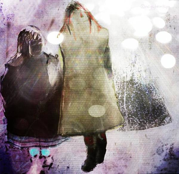 Digital Art - Snow Day by Delight Worthyn