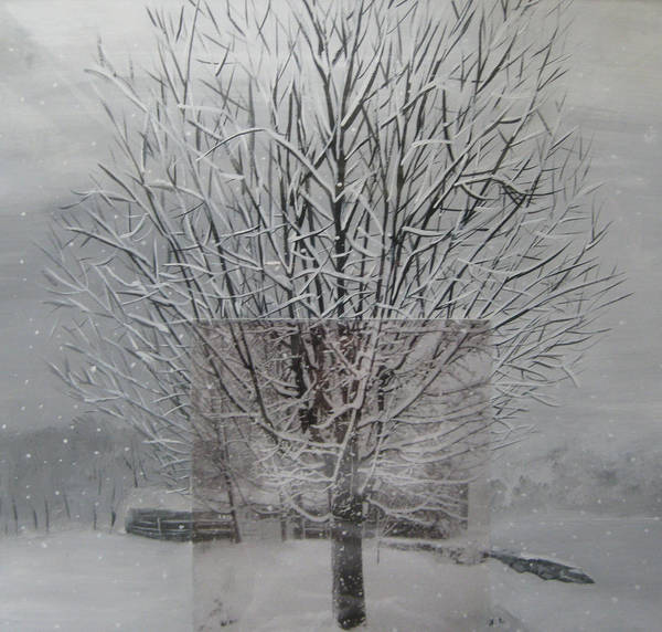 Mixed Media - Snow Day by Stella Sherman