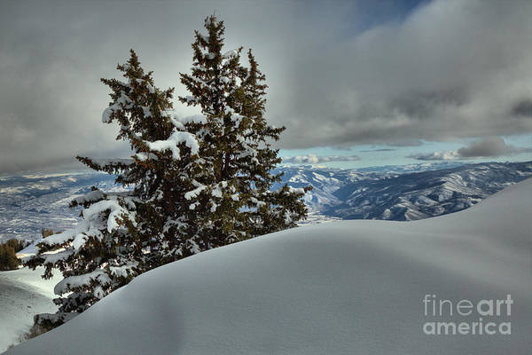 Photograph - Snow Drifts And Mountains by Adam Jewell