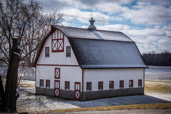 Wall Art - Photograph - Snow Dusted Barn by Paul Freidlund