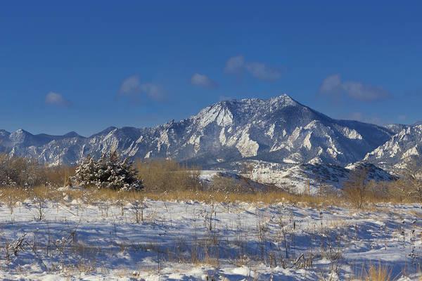 Wall Art - Photograph - Snow Dusted Flatirons - Boulder, Colorado by Bridget Calip
