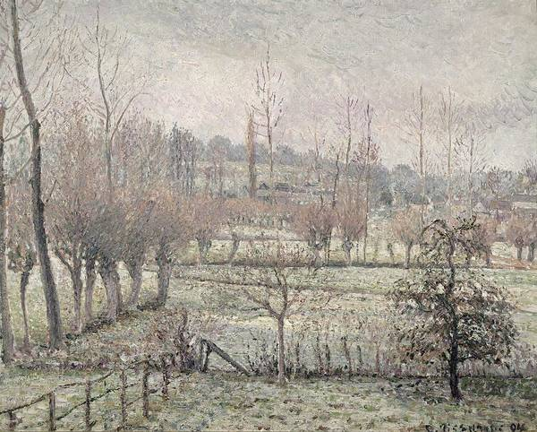 Painting - Snow Effect At Eragny by Camille Pissarro