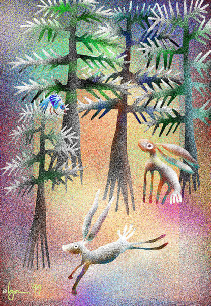 Painting - Snow Forest by Angela Treat Lyon