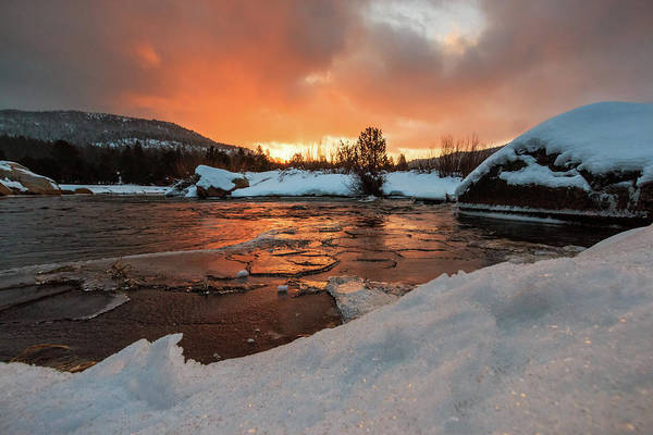 Lightroom Photograph - Snow, Ice And Morning Light On The River by Mike Herron
