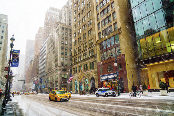 Wall Art - Photograph - Snow In The City by June Marie Sobrito