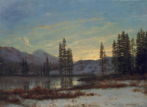 Wall Art - Painting - Snow In The Rockies by Albert Bierstadt
