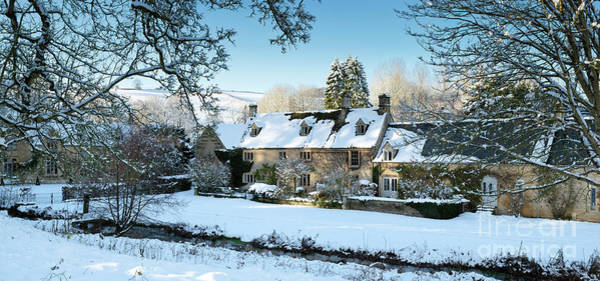 English Countryside Photograph - Snow In The Slaughters by Tim Gainey