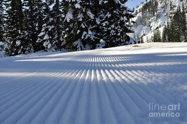 Snow Is Groovy Man Art Print