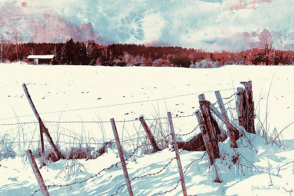 Snow Fence Digital Art - Snow by Jutta Maria Pusl