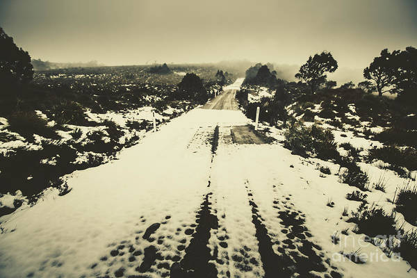 Traction Photograph - Snow Lane by Jorgo Photography - Wall Art Gallery