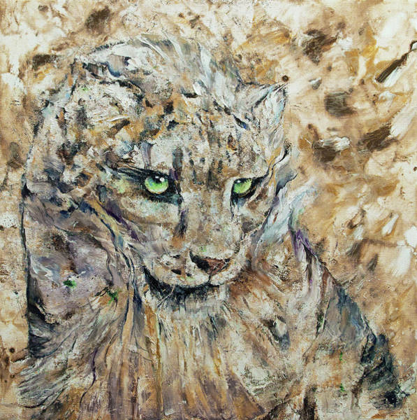 Wall Art - Painting - Snow Leopard by Michael Creese