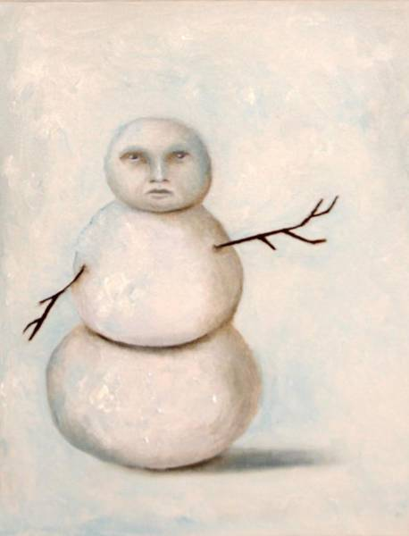 Painting - Snow Man by Leah Saulnier The Painting Maniac