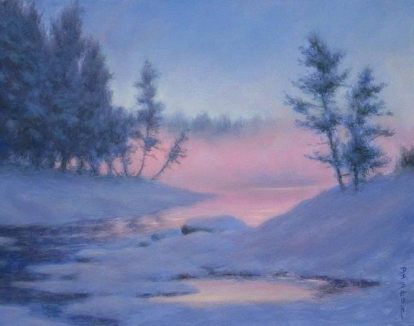 Wall Art - Painting - Snow Mist by Barry DeBaun