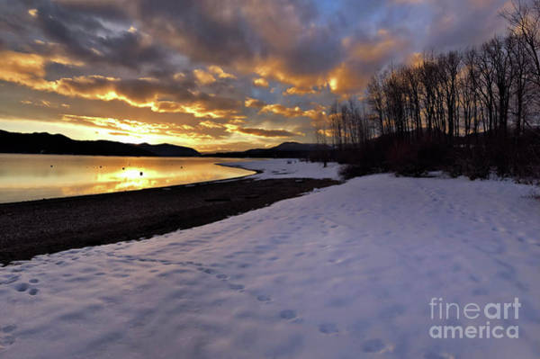 Photograph - Snow On Beach by Victor K