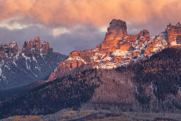 Photograph - Snow On Chimney Rock by Denise Bush