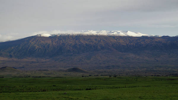 Photograph - Snow On Mauna Kea by Pamela Walton