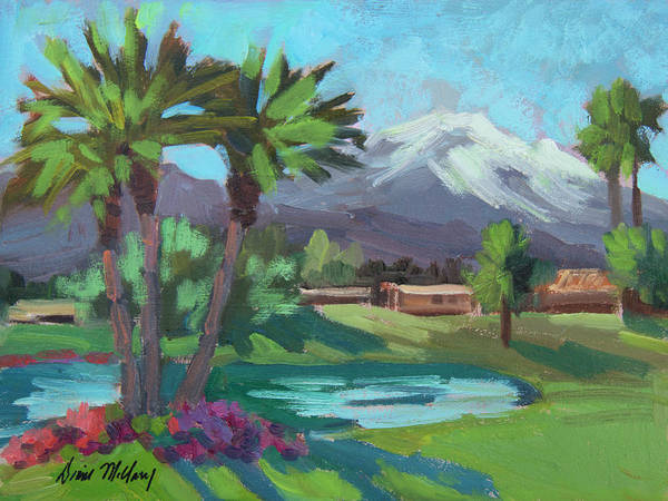 La Quinta Wall Art - Painting - Snow On Mt. San Jacinto by Diane McClary