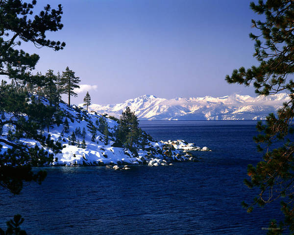 Wall Art - Photograph - Snow On Shoreline Lake Tahoe by Vance Fox