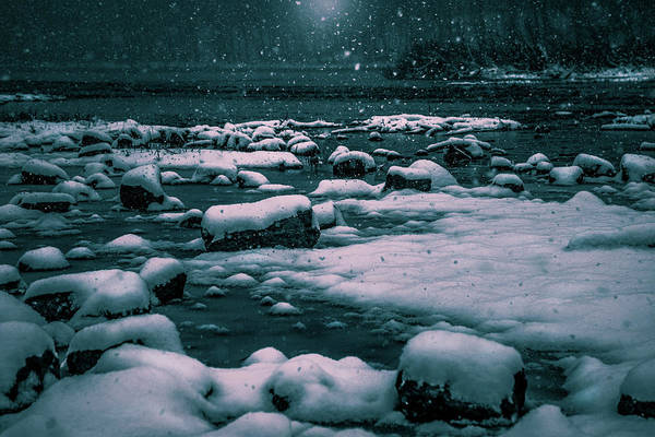 Photograph - Snow On The River by Michael Arend